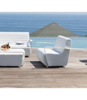 Acheter en ligne Canapé avec 2 places pour terrasse et jardin : Collection AXIS