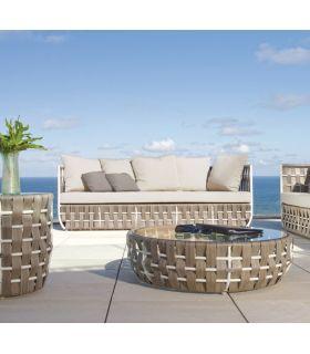 Acheter en ligne Canapé 3 places pour terrasse et jardin : Collection STRIPS