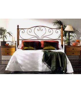 Acheter en ligne Têtes de lit en fer forgé et bois: modèle SANDRA.