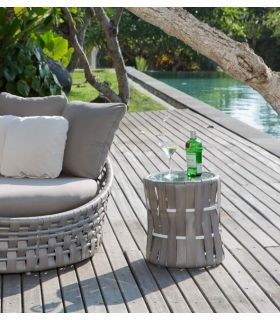 Acheter en ligne Table d'appoint pour terrasse et jardin : Collection STRIPS