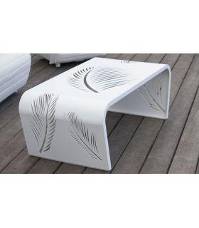 Acheter en ligne Table d'appoint en aluminium : Modèle LEAF