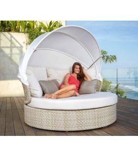 Acheter en ligne Lit balinais / Daybed pour jardin et terrasse : Collection JOURNEY