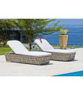 Acheter en ligne Lit de soleil pour extérieur : Collection STRIPS