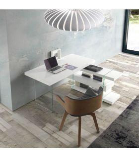 Acheter en ligne Bureau laqué en bois et verre : Modèle ROCK
