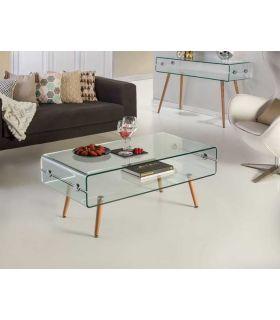 Acheter en ligne TABL.BASSE·GLASS II·PIED HÊTRE