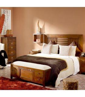 Acheter en ligne Banc de lit / meuble à chaussures au style colonial : Collection FLAMINGO