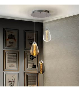 Acheter en ligne LAMPE·TACCIA·3L CHROME/COULEUR