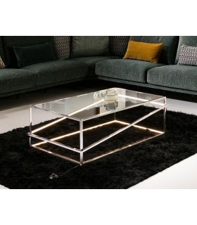 Acheter en ligne TABLE BASSE·MOONLIGHT·INOX.LED