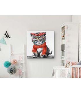 Acheter en ligne ACRYLIQUE ·KITTY· 50x50