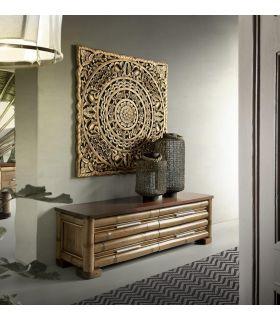 Acheter en ligne Commodes en bambou: modèle NAKO.