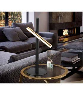 Acheter en ligne LAMP TABLE ·VARAS· OR/NOIR 2L