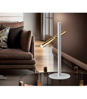 Acheter en ligne LAMPE TABLE ·VARAS· OR/BLANC 2