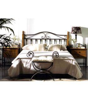 Acheter en ligne Têtes de lit en fer forgé et bois: modèle AFRIQUE.