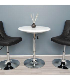 Acheter en ligne Set de 2 tables hautes modernes : Modèle AMIRA blanc