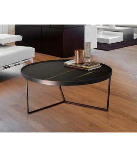Acheter en ligne TABLE BASSE·PAOLA· Ø80 NOIR