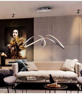 Acheter en ligne LAMPE ·LIA· FEUILLE ARGENT