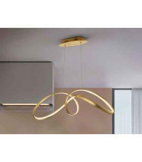 Acheter en ligne LAMPE ·LIA· FEUILLE OR