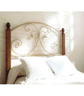 Acheter en ligne Têtes de lit en fer forgé et bois: modèle LOUHANS.
