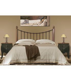 Acheter en ligne Têtes de lit en fer forgé et bois: modèle SARA.