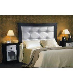 Acheter en ligne Tétes de lits en bois et Simili Cuir: modèle VIENNE