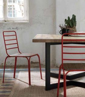 Acheter en ligne Chaise en fer forgé fabriquée à la main modèle NANTES