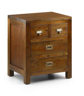 Acheter en ligne Table de chevet de style colonial : Collection FLAMINGO 4 tiroirs