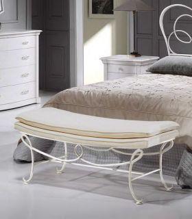Acheter en ligne Banquette de lit en fer forgé modèle BRUXELLES