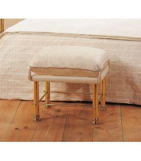 Acheter en ligne Banquette de lit en laiton modèle TALIA 1 place