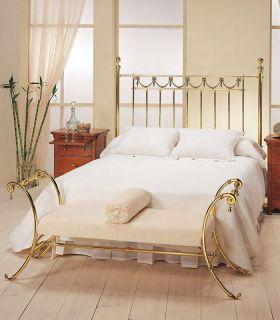 Acheter en ligne Tête de lit en laiton brillant modèle CARLO