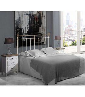 Acheter en ligne Tête de lit en acier et fonte d'aluminium modèle MULHOUSE
