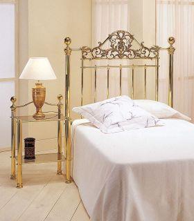Acheter en ligne Tête de lit individuelle en laiton brillant modèle CARLO
