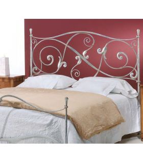 Acheter en ligne Tête de lit au style classique en fer forgé fabriquée à la main LILLE feuille d'argent