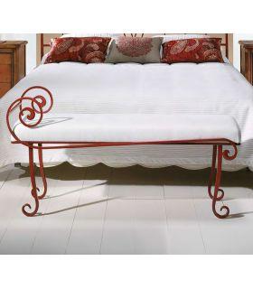 Acheter en ligne Banquette de lit en fer forgé modèle MIZAR corinthe