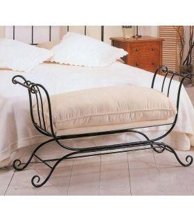 Acheter en ligne Banc de lit en fer forgé modèle RODAS