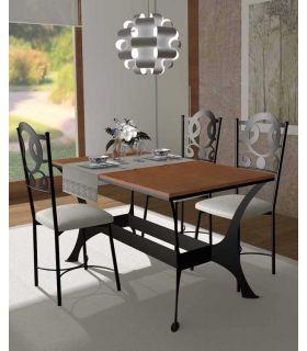 Acheter en ligne Tables à Manger en Forge et Bois : Collection OSLO RYS