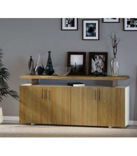Acheter en ligne Enfilade en bois avec des postes en métal Collection CONT