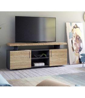 Acheter en ligne Table TV avec une structure en anthracite Collection CONT