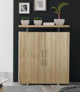 Acheter en ligne Meuble de quatre portes en bois de pin collection CONT