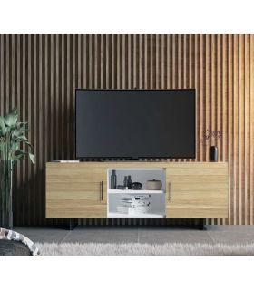 Acheter en ligne Table TV en bois naturel de pin collection FULL