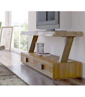 Acheter en ligne Table TV de style industriel en bois et métal : Modèle ZOUT