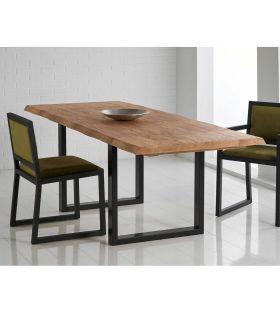Acheter en ligne Table à manger extensible de style industriel : Collection HUNK
