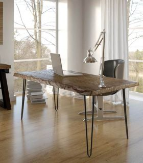 Acheter en ligne Table à manger en bois et métal : Modèle MOZT