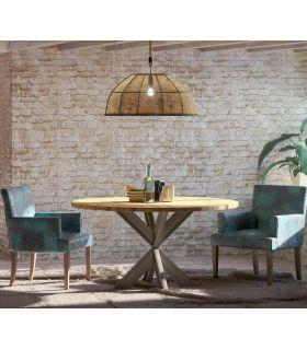 Acheter en ligne Table à manger ronde de style industriel : Modèle CUPS