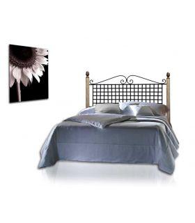 Acheter en ligne Têtes de lit en fer forgé et bois: modèle ANA.