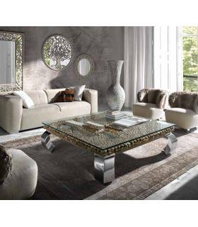 Acheter en ligne Table basse carré en acier et bois : Collection DRIFTWOOD