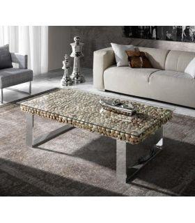 Acheter en ligne Table rectangulaire en acier et bois recyclé : Collection DRIFTWOOD