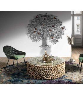 Acheter en ligne Table basse ronde en bois récyclée DRIFTWOOD
