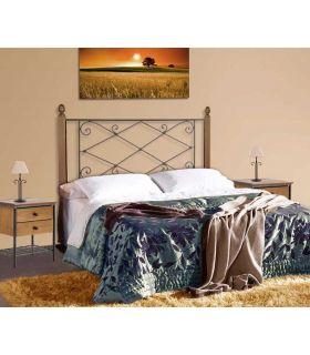 Acheter en ligne Têtes de lit en fer forgé et bois: modèle JULIA.