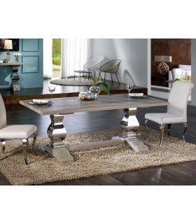 Acheter en ligne Table à manger en acier et bois : Collection ANTICA
