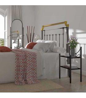 Acheter en ligne Têtes de lit en fer forgé et laiton: modèle BALEARES.